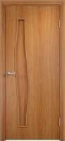 Дверь ламинированная Волна глухая, миланский орех (светлая)