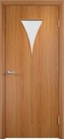 Дверь ламинированная Рюмка со стеклом (стекло матовое), миланский орех (светлая)