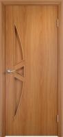 Дверь ламинированная Луна-3 глухая, миланский орех (светлая)