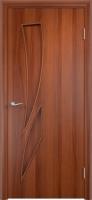 Дверь ламинированная Стрилиция глухая, итальянский орех (темная)