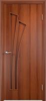 Дверь ламинированная Орхидея глухая, итальянский орех (темная)