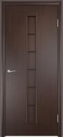 Дверь ламинированная Японка глухая, венге (черная)