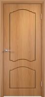 Дверь пвх  Лилия межкомнатная глухая, миланский орех (светлая)
