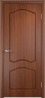 Дверь пвх  Лилия межкомнатная глухая, итальянский орех (темная)