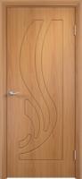 Дверь пвх  Лотос межкомнатная глухая, миланский орех (светлая)