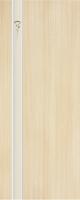 Дверь пвх  Комета межкомнатная глухая с матированной зеркальной вставкой с рисунком, беленый дуб