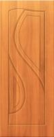 Дверь пвх  Премьера межкомнатная глухая, миланский орех (светлая)