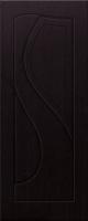 Дверь пвх  Премьера межкомнатная глухая, венге (черная)