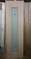Дверь пвх  Элегия межкомнатная со стеклом (стекло белое матовое с рисунком и фьюзингом (декоротивные накладки), беленый дуб