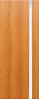 Дверь пвх Веста1 межкомнатная со стеклом триплекс (белое матовое), миланский орех (светлая)