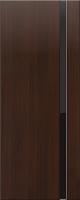 Дверь пвх Веста1 межкомнатная со стеклом триплекс (черное), венге (черная)
