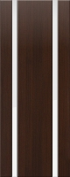 Дверь пвх Веста2 межкомнатная со стеклом триплекс (белое матовое), венге (черная)
