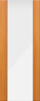 Дверь пвх Веста3 межкомнатная со стеклом триплекс (белое матовое), миланский орех (светлая)