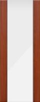 Дверь пвх Веста3 межкомнатная со стеклом триплекс (белое матовое), итальянский орех (светлая)