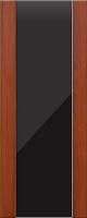 Дверь пвх Веста3 межкомнатная со стеклом триплекс (черное), итальянский орех (светлая)