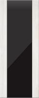 Дверь пвх Веста3 межкомнатная со стеклом триплекс (черное), беленый дуб