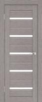 Дверь Экошпон Стиль  1 (S-1) межкомнатная со стеклом (стекло белое матовое), неапль (серый)