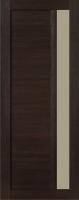 Дверь Экошпон Стиль  2 (S-2) межкомнатная со стеклом (стекло белое матовое), венге