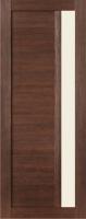 Дверь Экошпон Стиль  2 (S-2) межкомнатная со стеклом (стекло белое матовое), орех