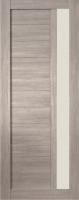 Дверь Экошпон Стиль  2 (S-2) межкомнатная со стеклом (стекло белое матовое), неапль (серый)