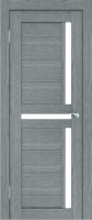 Дверь Экошпон Стиль  5 (S-5) межкомнатная со стеклом (стекло белое матовое), неапль (серый)