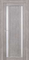 Дверь Экошпон Стиль  6 (S-6) межкомнатная со стеклом (стекло белое матовое), неапль (серый)