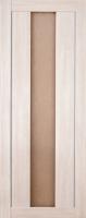 Дверь Экошпон Стиль  7 (S-7) межкомнатная со стеклом (стекло белое матовое), беленый дуб