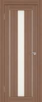 Дверь Экошпон Стиль  7 (S-7) межкомнатная со стеклом (стекло белое матовое), орех