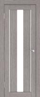 Дверь Экошпон Стиль  7 (S-7) межкомнатная со стеклом (стекло белое матовое), неапль (серый)