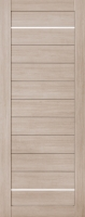 Дверь Экошпон Стиль  8-1 (S-8-1) межкомнатная глухая с молдингом, беленый дуб