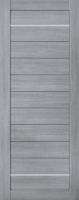 Дверь Экошпон Стиль  8-1 (S-8-1) межкомнатная глухая с молдингом, неапль (серый)