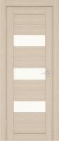 Дверь Экошпон Стиль  8-2 (S-8-2) межкомнатная со стеклом (стекло белое матовое), беленый дуб