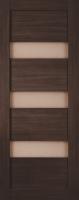 Дверь Экошпон Стиль  8-2 (S-8-2) межкомнатная со стеклом (стекло белое матовое), венге