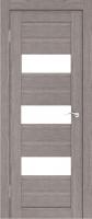 Дверь Экошпон Стиль  8-2 (S-8-2) межкомнатная со стеклом (стекло белое матовое), неапль (серый)