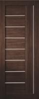 Дверь Экошпон Стиль  9 (S-9) межкомнатная со стеклом (стекло белое матовое) и молдингом, венге