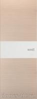Дверь Экошпон ЭЛИТ Q 5 межкомнатная глухая со стеклом триплекс белое матовое, беленый дуб