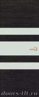 Дверь Экошпон ЭЛИТ Q 6 межкомнатная глухая со стеклом триплекс белое матовое, венге