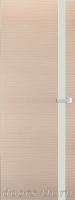 Дверь Экошпон ЭЛИТ Q 7 межкомнатная глухая со стеклом триплекс белое матовое, беленый дуб