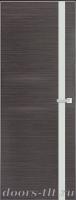 Дверь Экошпон ЭЛИТ Q 7 межкомнатная глухая со стеклом триплекс белое матовое, серый