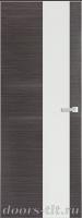 Дверь Экошпон ЭЛИТ Q 8 межкомнатная глухая со стеклом триплекс белое матовое, серый
