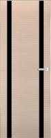 Дверь Экошпон ЭЛИТ Q 9 межкомнатная глухая со стеклом триплекс белое матовое, беленый дуб