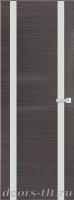 Дверь Экошпон ЭЛИТ Q 9 межкомнатная глухая со стеклом триплекс белое матовое, серый