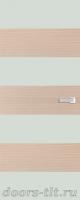 Дверь Экошпон ЭЛИТ Q10  межкомнатная глухая со стеклом триплекс белое матовое, беленый дуб