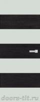 Дверь Экошпон ЭЛИТ Q10  межкомнатная глухая со стеклом триплекс белое матовое, венге