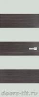 Дверь Экошпон ЭЛИТ Q10  межкомнатная глухая со стеклом триплекс белое матовое, серый
