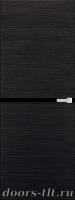 Дверь Экошпон ЭЛИТ Q 2 межкомнатная глухая со стеклом триплекс черное, венге