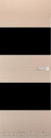 Дверь Экошпон ЭЛИТ Q 3 межкомнатная глухая со стеклом триплекс черное, беленый дуб