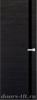 Дверь Экошпон ЭЛИТ Q 7 межкомнатная глухая со стеклом триплекс черное, венге