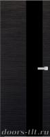 Дверь Экошпон ЭЛИТ Q 8 межкомнатная глухая со стеклом триплекс черное, венге
