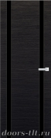 Дверь Экошпон ЭЛИТ Q 9 межкомнатная глухая со стеклом триплекс черное, венге